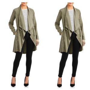 Max Jeans | Green Drape Front Utility Jacket Green